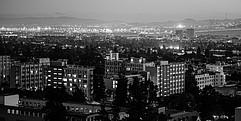 Blick von oben auf die Stadt